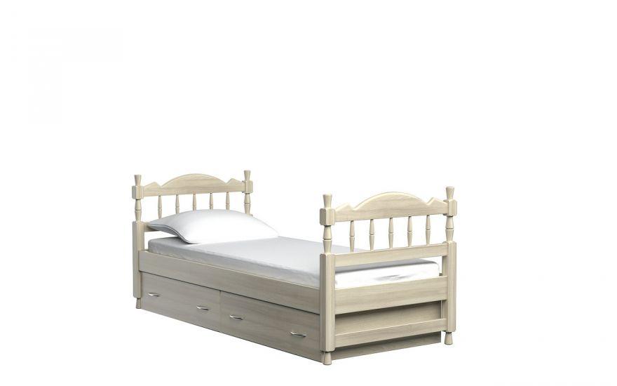 Детская кровать Юниор  с ящиками (массив ясеня) | DreamLine