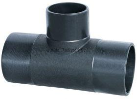 Тройник литой ПНД 250-200-250мм (SDR17, PE100) ROFITT