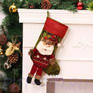 Новогодний носок Дед Мороз средний