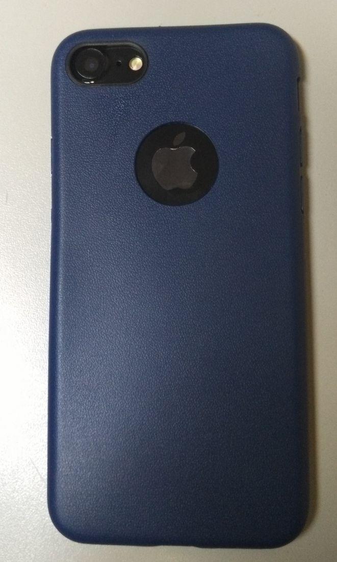 Силиконовый чехол для iPhone 7 (Синий)