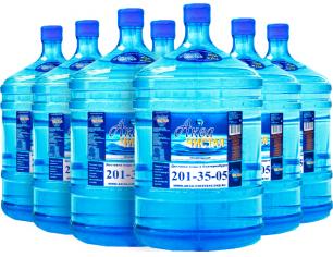Доставка воды Аква чистая 7 бутылей по 19л.