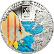 ЦАР 100 франков 2015 Великий Барьерный Риф WWF