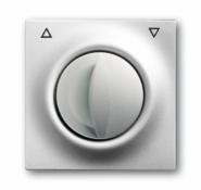 Накл. выкл.жалюз.повор. ABB BJE Impuls Серебро металлик