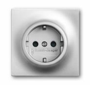 Розетка с/з ABB BJE Impuls Серебро металлик