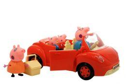 """(Сток по дефекту упаковки) Машинка """"Свинка пеппа и ее семья на пикнике"""" Happy Family"""