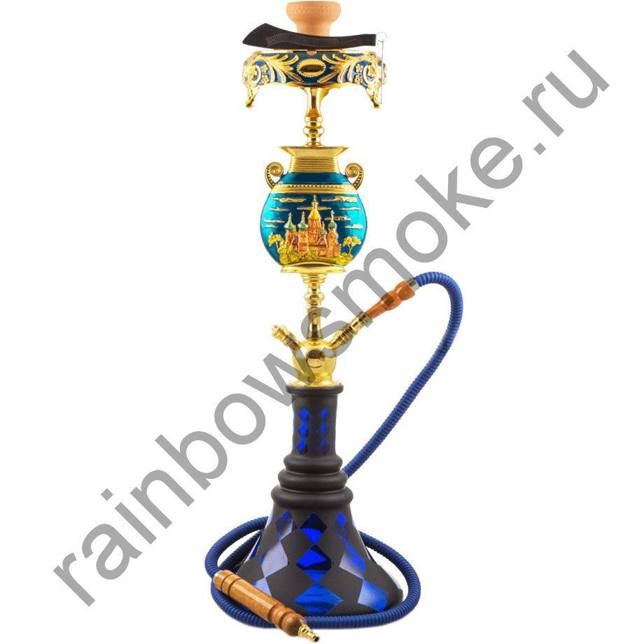 Кальян Magix Moscow Gold & Blue (Маджикс Москва золотой и голубой)