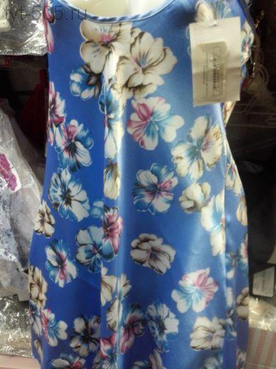 Сорочка (шелка Avals) синяя