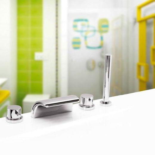 Смеситель на борт ванны Vega ONDA (4 эл.) LUX