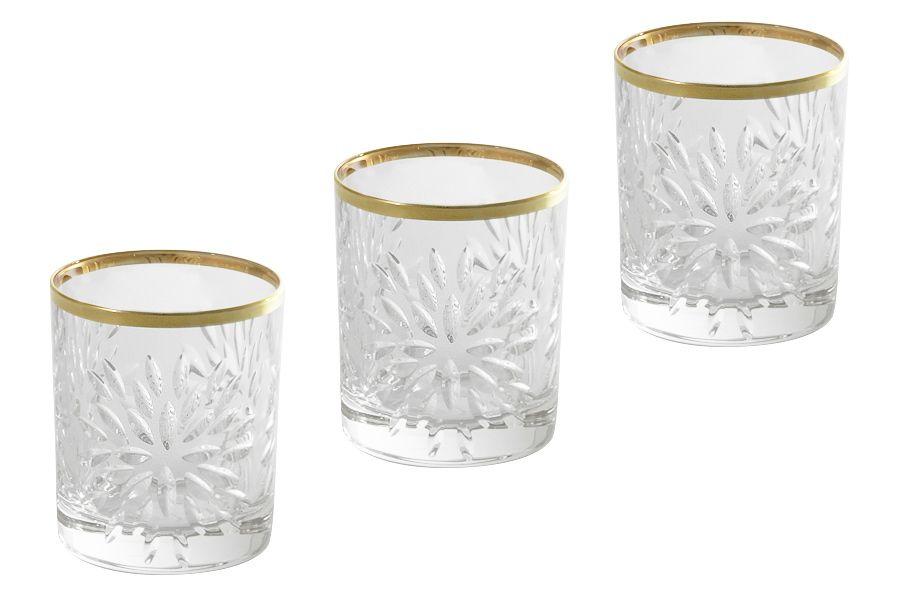 """Набор хрустальных стопок для водки """"Умбрия Золото"""", 0.075л, 6шт."""