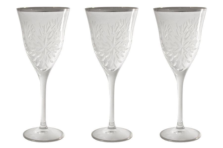 "Набор хрустальных бокалов для вина ""Умбрия Платина"" (матовая), 0.25л, 6шт."
