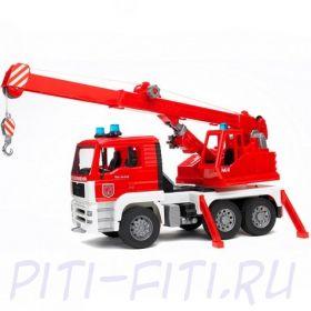 Bruder Брудер Пожарная машина автокран MAN с модулем со световыми и звуковыми эффектами