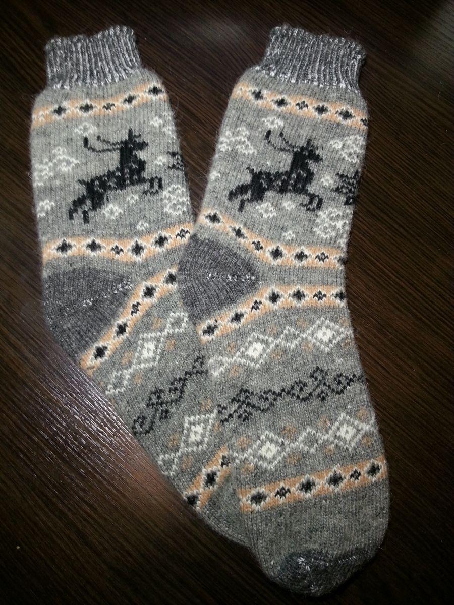 Носки мужские шерстяные с Оленем | Арт. ЗН-04М