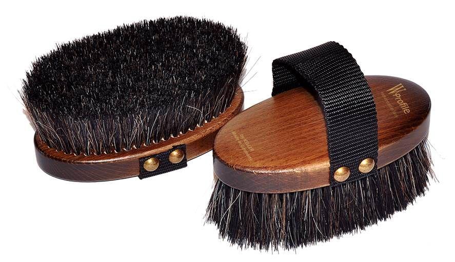 Щетка для морды W-Profile, мягчайший волос на деревянной лакированной основе
