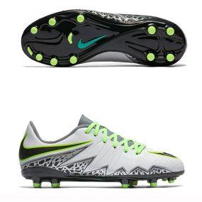 Детские бутсы Nike Hypervenom Phelon II FG серые