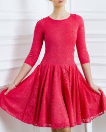 Платье для танцев, коралловое