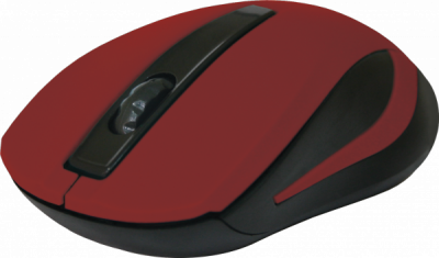 Беспроводная оптическая мышь MM-605 красный,3 кнопки,1200dpi