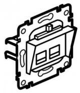 Розетка RJ 45 двойная  для кабелей FTP (арт.775799)