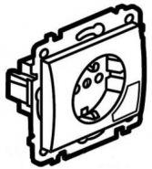 Розетка 2К+З  с клавишей для извлечения вилки White/Белый (арт.777024)
