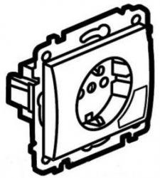Розетка 2К+З с клавишей для извлечения вилки Aluminium/Алюминий (арт.771324)