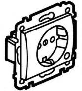 Силовая розетка 2К+З с лиц. панелью  White/Белый (арт.771062)