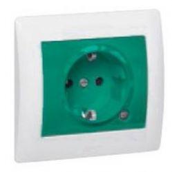 Розетка 2К+З с индикаторной лампой, с защ. шт. Зеленая (арт.771044)
