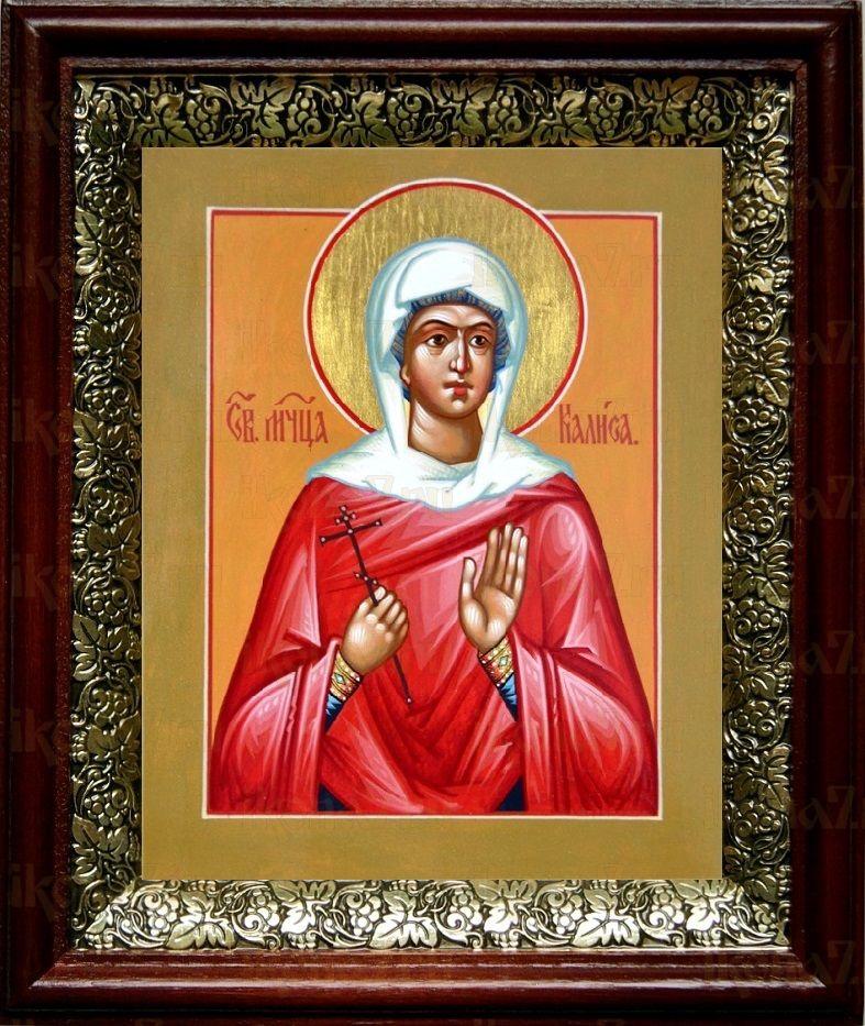 Калиса Коринфская (19х22), темный киот