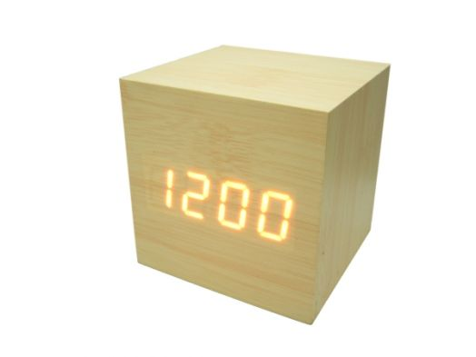 Часы эл. VST869-1 + радио крас.цифры (СВЕТЛО-коричневый)