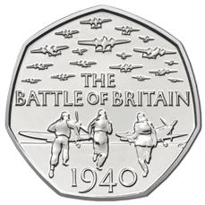 75 лет Битве за Британию 50 пенсов Великобритания  2015