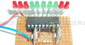 Радиоконструктор № 022, «Светодиодный автомобильный вольтметр»