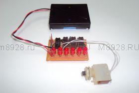 Радиоконструктор № 028, «Электронный игровой кубик»