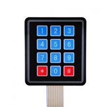 3*4 matrix keypad membrane switch