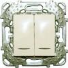 Выкл. двухкл. Unica с подсветкой бежевый