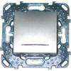 Таймер нажимной Unica Top 2сек - 12мин с индикаторной лампой 8А цвет Алюминий