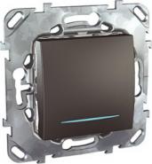 Одноклавишный выкл. Unica Top с подсветкой цвет Графит