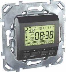 Электронный термостат Unica Top 8А (от +5 до +30 градусов) цвет Графит
