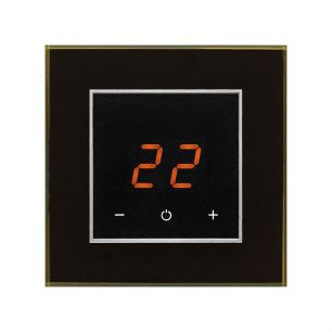 AURA ORTO 9005 Black Classic - сенсорный терморегулятор