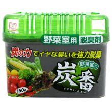 Kokubo Поглотитель запахов для холодильника Древесный Уголь (овощная камера), 150 г