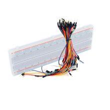 Макетная плата + набор цветных проводов.