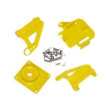 Кронштейн ABS для двух сервоприводов, цвет желтый