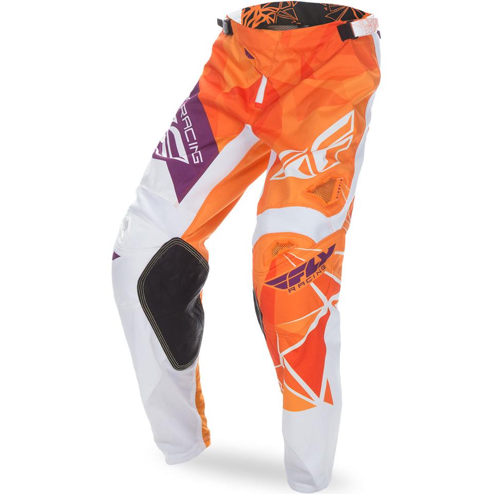 FLY - 2017 Kinetic Crux штаны, оранжево-бело-фиолетовые