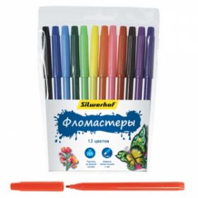 Фломастеры Silwerhof, 12 цветов (арт. 877064-12)