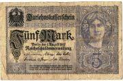 5 марок. 1917 год.  V 11996734.