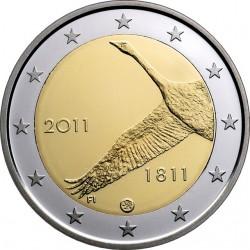 Лебедь-кликун.200 лет Банку Финляндии 2 евро Финляндия 2011