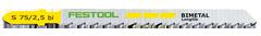 Пилки для лобзика, компл. из 5 шт. HS 75/2,5 BI/5 Festool