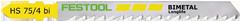 Пилки для лобзика, компл. из 5 шт. HS 75/4 BI/5 Festool