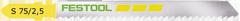 Пилки для лобзика, компл. из 5 шт. S 75/2,5/5 Festool