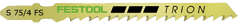 Пилки для лобзика, компл. из 5 шт. S 75/4 FS/5 Festool