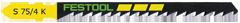 Пилки для лобзика, компл. из 5 шт. S 75/4 K/5 Festool