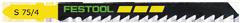 Пилки для лобзика, компл. из 5 шт. S 75/4/5 Festool