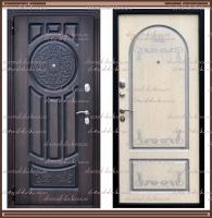 """Входная металлическая дверь """"Лео"""" Vinorit Венге / Белёный дуб :"""